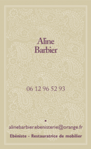 Carte De Visite Alinebarbier Ebenisterie